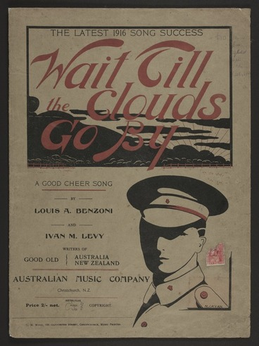 Image: Wait till the clouds go by : a good cheer song / by Louis A. Benzoni and Ivan M. Levy.
