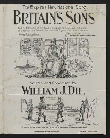 Image: Britain's sons / written and composed by William J. Dil.