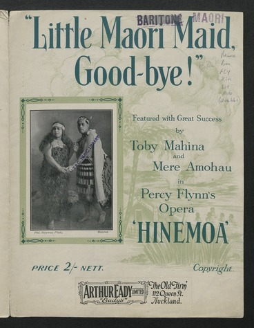 Image: Little Māori maid, good-bye! / words and music by Percy Flynn.