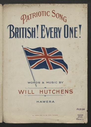 Image: British! Every one! / words & music by Will Hutchens.