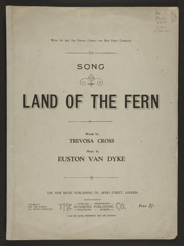 Image: Land of the fern : song / words by Trevosa Cross ; music by Euston van Dyke.