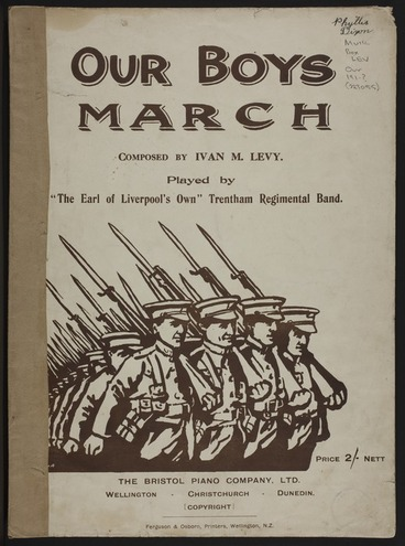 Image: Our boys march / composed by Ivan M. Levy.