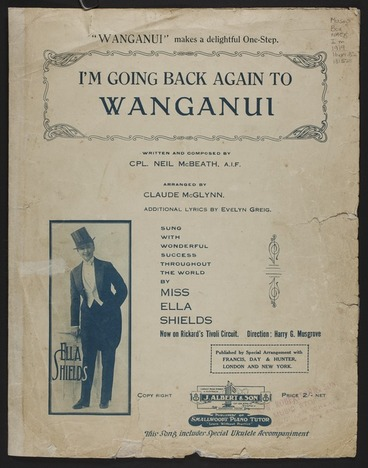 Image: I'm going back again to Wanganui / written and composed by Neil McBeath ; arranged by Claude McGlynn ; additional lyrics by Evelyn Greig.
