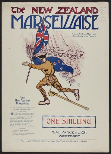 Image: The New Zealand marseillaise / adapted words and music ; also a simple setting for the pianoforte.