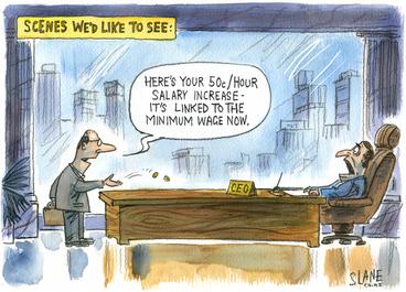 Image: Slane, Christopher, 1957- :Minimum salary. 27 February 2014