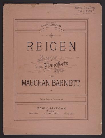 Image: Reigen : für das pianoforte / Maughan Barnett.
