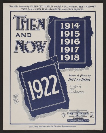 Image: Then & now / words & music by Bert Le Blanc ; arr. by Bill Osborne.