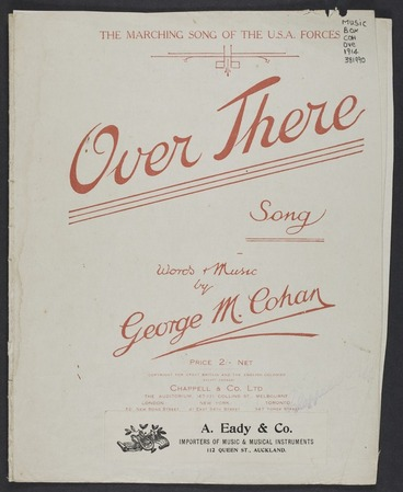 Image: Over there : song / words & music by George M. Cohan.