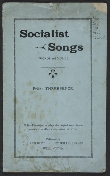 Image: Socialist songs : (words and music).