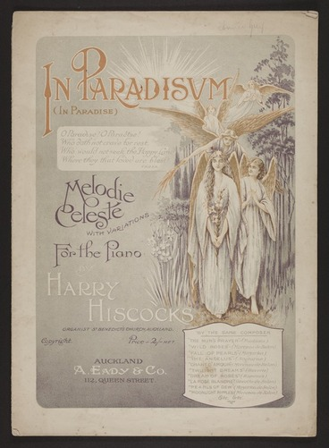 Image: In paradisum = In paradise : melodie celeste with variations for the piano / by Harry Hiscocks.