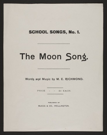 Image: The moon song / words and music by M.E. Richmond.