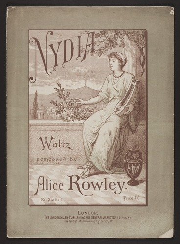 Image: Nydia : waltz / composed by Alice Rowley.