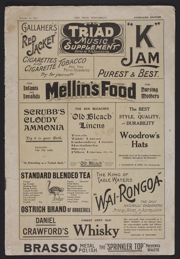 Image: Triad music supplement. October 10, 1910 / edited by C.N. Baeyertz.