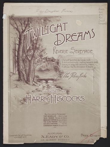 Image: Twilight dreams : reverie serenade / Harry Hiscocks.