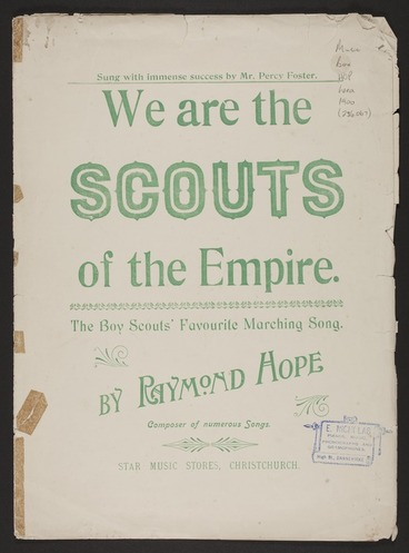 Image: We are the Scouts of the Empire / composed by Raymond Hope.