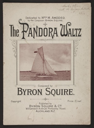 Image: The pandora waltz / composed by Byron Squire.
