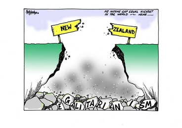Image: Hubbard, James, 1949- :NZ income gap equal highest in the world - News... 16 December 2014