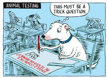 Image: Murdoch, Sharon Gay, 1960- :Animal testing. 18 February 2015