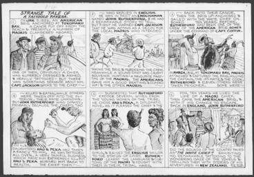 Image: Gore, Ross Digby, 1904-1981 :Strange tale of a tattoed Pakeha [ca 1957].