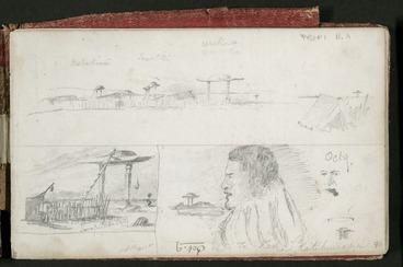 Image: Mantell, Walter Baldock Durrant, 1820-1895 :Te Rehe, Katihuirapa. Oct 9 [1848. Waiteruati Pa].