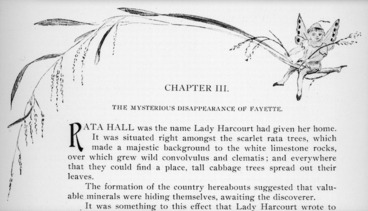 Image: Harris, Emily Cumming, 1837?-1925 :Chapter III. The mysterious disappearance of Fayette. [Top of page. 1909].