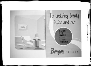 Image: Berger Paints display panels