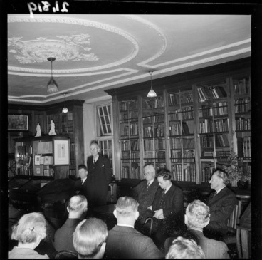 Image: 25th anniversary celebrations of the Alexander Turnbull Library, Wellington