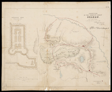 Image: Sketch of the country about Orakau