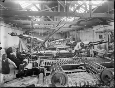 Image: Flax processing factory, probably Christchurch region