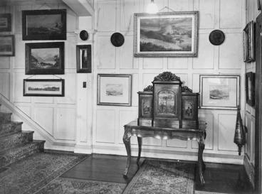 Image: Alexander Turnbull Library hallway, Bowen Street, Wellington