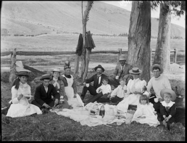 Image: Picnic, probably Christchurch district