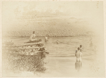 Image: Men bathing in a river