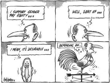 """Image: Hubbard, James, 1949- :""""I support gender pay equity..."""" 11 July 2011"""
