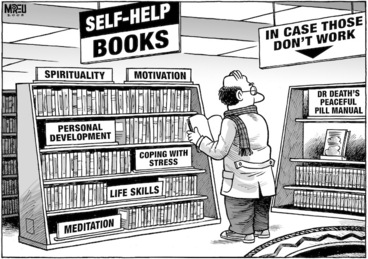 Image: 'Self-help books'. 13 May, 2008