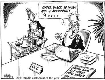 "Image: Hubbard, James, 1949- :""Coffee black, no sugar and 2 arrowroots ta ...."" 17 July 2011"