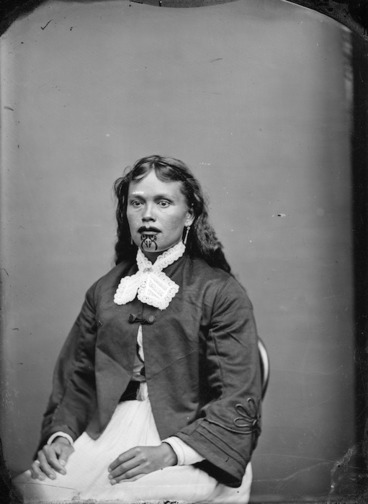 Image: Maori woman from Hawkes Bay district