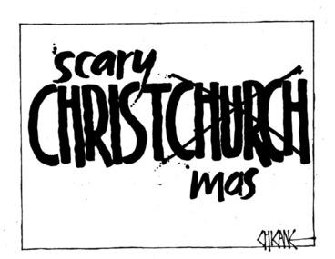 Image: Winter, Mark 1958- :Christchurch mess. 24 December 2011