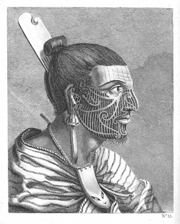 Image: The head of a New Zealander by Sydney Parkinson