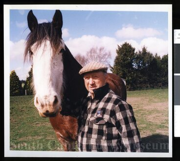Image: Bob Hill and 'Glen' the Clydesdale
