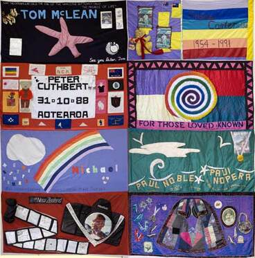 Image: AIDS memorial quilts