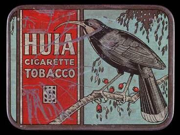 Image: Huia cigarette tobacco tin