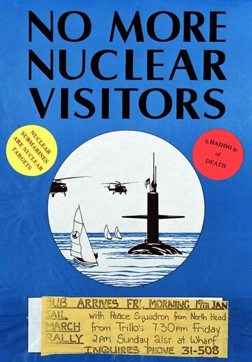 Image: Nuclear warship protests: poster