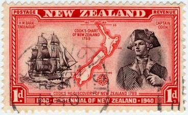 Image: Captain Cook stamp