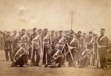 Image: Taranaki Military Settlers, Pukearuhe