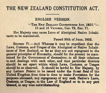 Image: Constitution Act 1852
