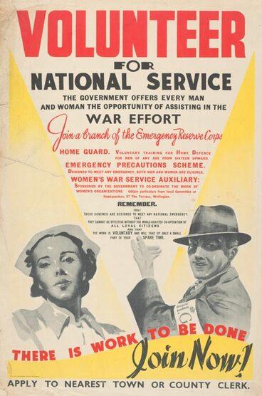 Image: Poster for volunteer war service