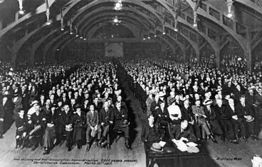 Image: Anti-conscription conference, 1917