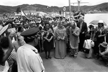 Image: Waitangi Day protest, 1984