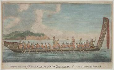 Image: Waka taua, 1769