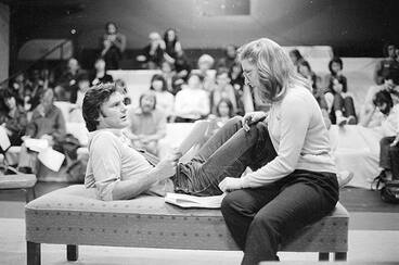 Image: Workshopping a play script, 1982